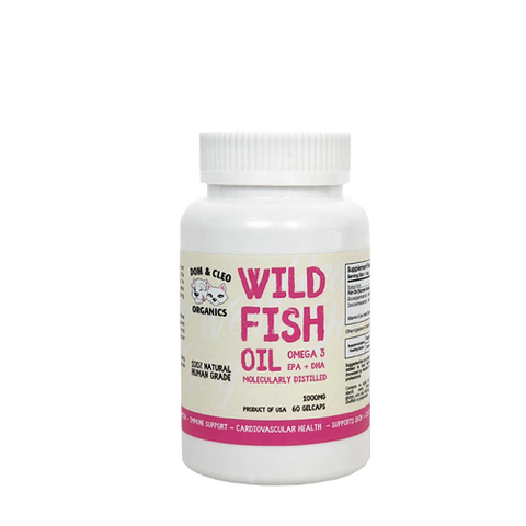 Dom & Cleo, Dog and Cat Supplements, Wild Fish Oil