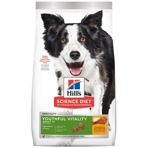Hill's Science Diet, Dog Dry Food,  Mature Adult, Youthful Vitality, Chicken & Rice (2 Sizes)