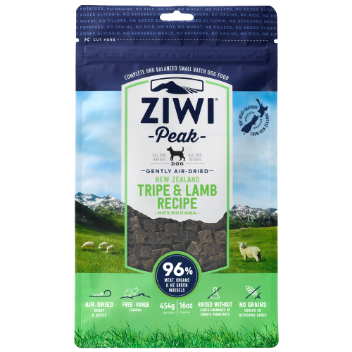 Ziwi, Dog Dry Food, Air Dried, Tripe & Lamb (3 Sizes)