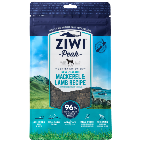 Ziwi, Dog Dry Food, Air Dried, Mackerel & Lamb (4 Sizes)