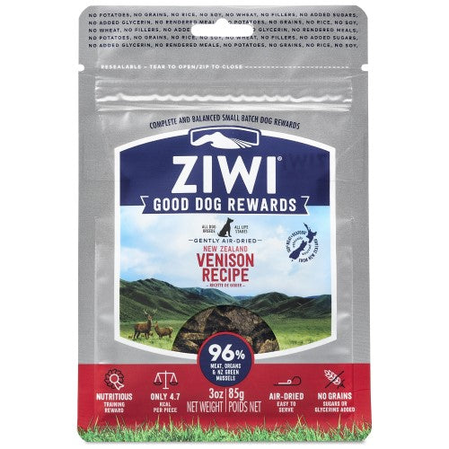 Ziwi, Dog Treats, Air Dried, Good Dog Rewards, Venison