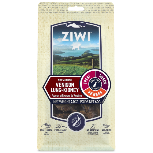 Ziwi, Dog Treats, Air Dried, Venison Lung & Kidney
