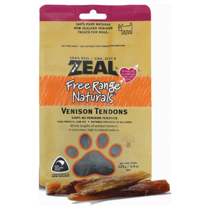 Zeal, Dog Treats, Venison Tendons
