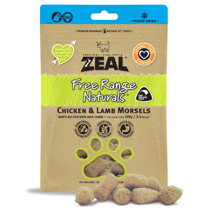Zeal, Dog & Cat Treats, Freeze Dried, Chicken & Lamb Morsels