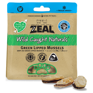 Zeal, Dog & Cat Treats, Freeze Dried, Green Lipped Mussels
