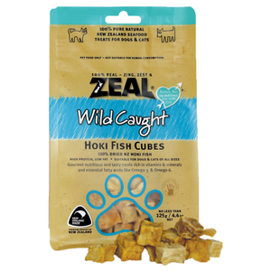 Zeal, Dog & Cat Treats, Hoki Fish Cubes