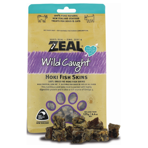 Zeal, Dog & Cat Treats, Hoki Fish Skins