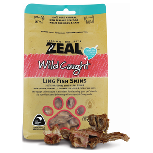 Zeal, Dog & Cat Treats, Ling Fish Skins