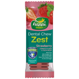 Happi Doggy, Dog Hygiene, Oral & Dental Care, Zest Dental Chew, Strawberry