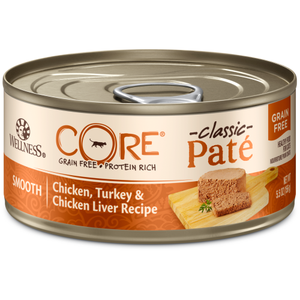 Wellness Core, Cat Wet Food, Grain Free, Pate, Chicken, Turkey & Chicken Liver