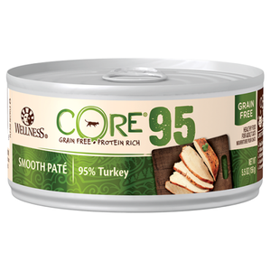 Wellness Core, Cat Wet Food, Grain Free, Pate, 95% Turkey