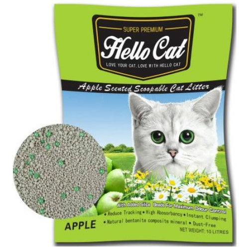 Hello Cat, Cat Hygiene, Litter, Bentonite Cat Sand, Apple