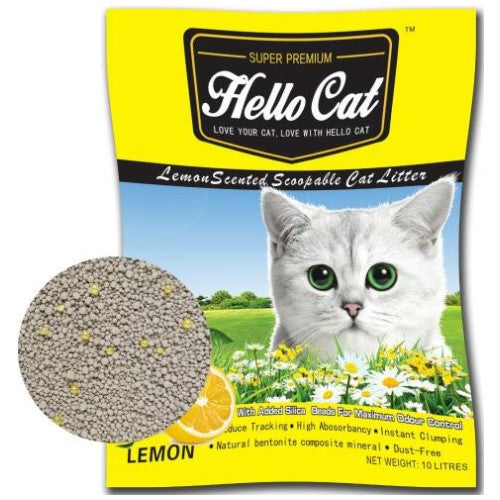 Hello Cat, Cat Hygiene, Litter, Bentonite Cat Sand, Lemon