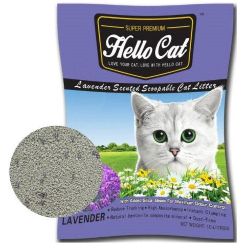 Hello Cat, Cat Hygiene, Litter, Bentonite Cat Sand, Lavender
