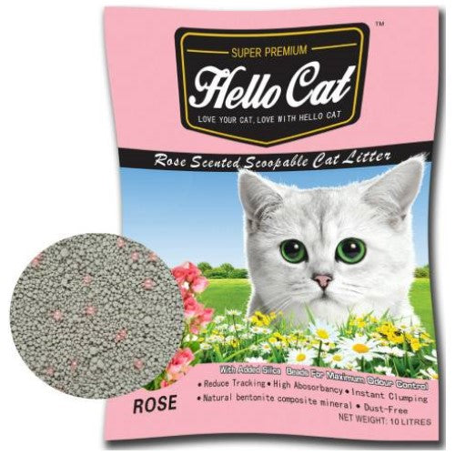 Hello Cat, Cat Hygiene, Litter, Bentonite Cat Sand, Rose