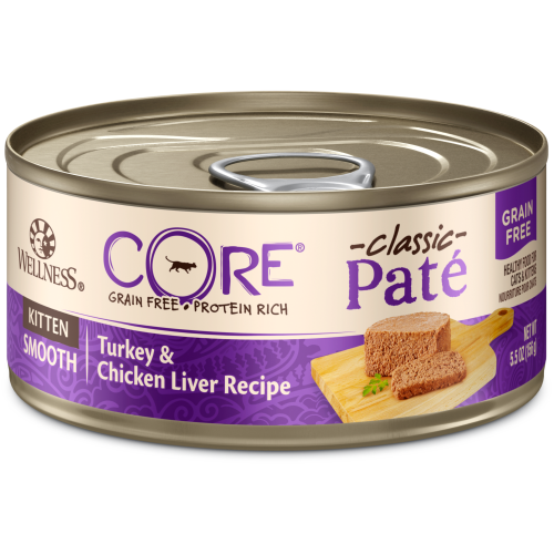 Wellness Core, Cat Wet Food, Grain Free, Pate, Kitten, Turkey & Chicken Liver