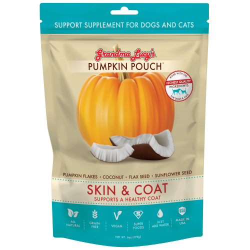 Grandma Lucy's, Dog & Cat Healthcare, Supplements, Pumpkin Pouch, Skin & Coat