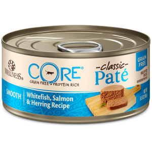 Wellness Core, Cat Wet Food, Grain Free, Pate, Whitefish, Salmon & Herring