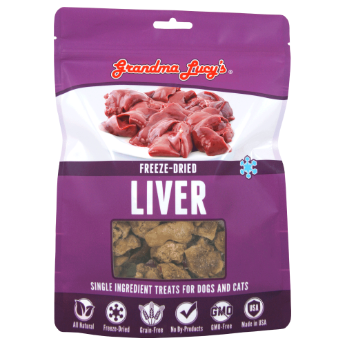 Grandma Lucy's, Dog & Cat Treats, Freeze Dried, Single Ingredient, Liver