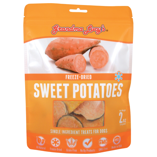 Grandma Lucy's, Dog & Cat Treats, Freeze Dried, Single Ingredient, Sweet Potatoes