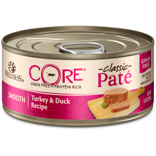 Wellness Core, Cat Wet Food, Grain Free, Pate, Turkey & Duck