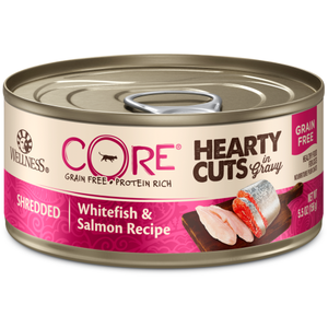 Wellness Core, Cat Wet Food, Grain Free, Hearty Cuts, Whitefish & Salmon
