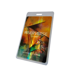 Holopasses Backstagepass Tourausweis mit Holo-Finish 65x108mm