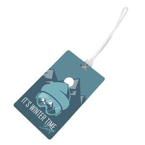"SEASON BAGTAG ""IT'S WINTERTIME, BABY!"" (PVC LUGGAGE TAG)"