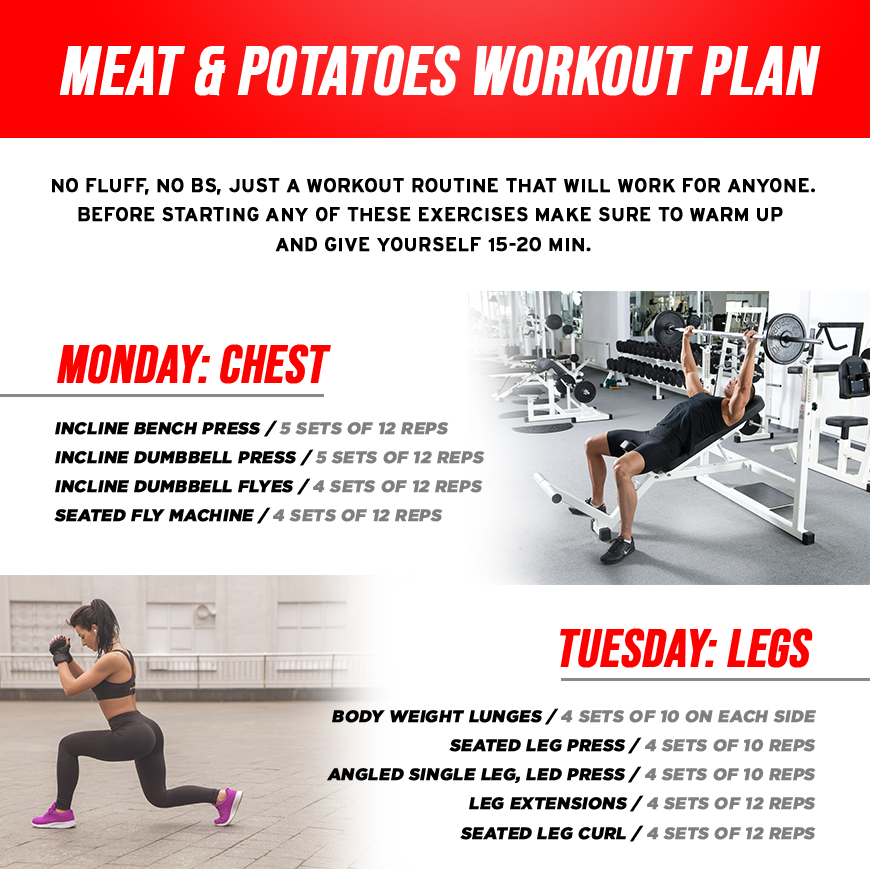 Meat & Potatoes Workout Routine - Let The Gains Begin!