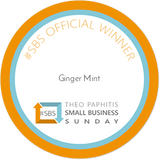 Ginger Mint's #SBS Award from Theo Paphitis