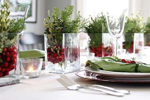 Christmas table centrepiece idea