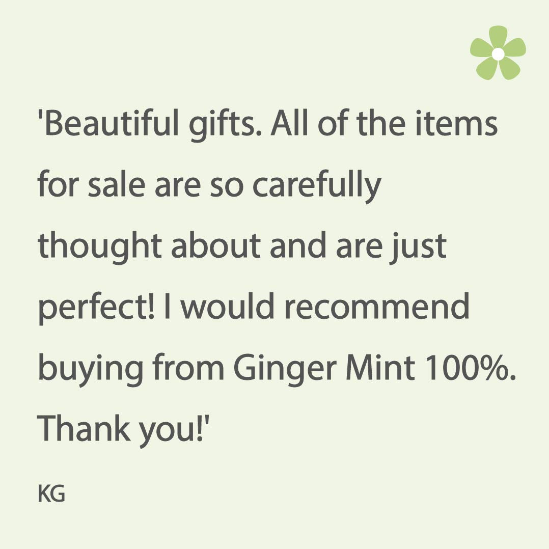 Review of Ginger Mint's beautiful gifts and service