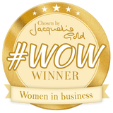Ginger Mint's #WOW Award from Jacqueline Gold, the CEO of Ann Summer