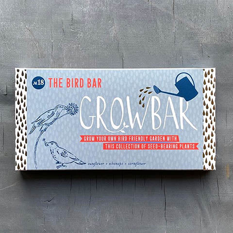 Bird bar growbar seeds fake birds and flowers
