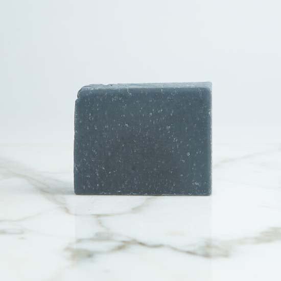 Charcoal detox soap with label