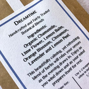 Dreamtime organic herbal tea ingredients list