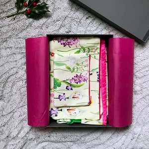 Idyllic Spring collection of floral bags in a gift box