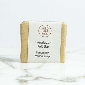 Himalayan salt soap with label