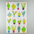 Maggie Magoo large colourful cactus tea towel