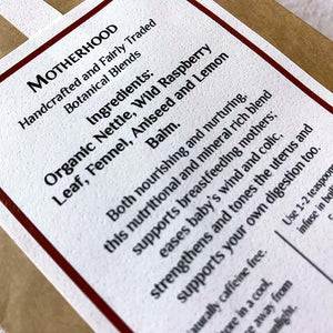 Motherhood organic herbal tea ingredients list