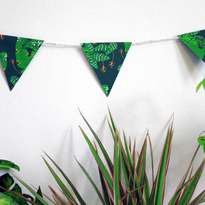 Illustrated Kat Tropical Leaves mini paper bunting