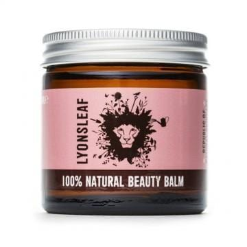 Beauty balm in glass jar and metal lid made by Lyonsleaf Republic of Natural Skincare