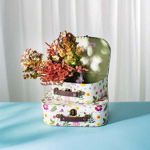 Pressed flower suitcases