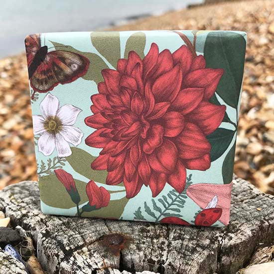 Lavender, peppermint and pumice gardener's soap on the beach