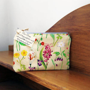 Illustrated Kat Idyllic Spring floral coin purse