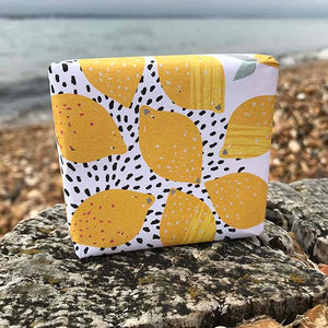 Lemongrass and jojoba oil shampoo bar by Suddy Nora with no label