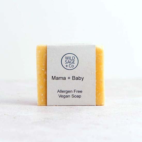 Vegan Mama and Baby soap with label