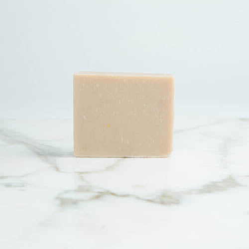 Vegan Lavender and Geranium soap with label