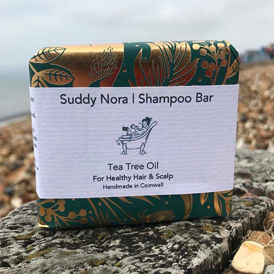 Tea tree oils shampoo bar by Suddy Nora on the beach