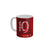 FunkyTradition Manchester United Football 19 Champions Red White Ceramic Coffee Mug